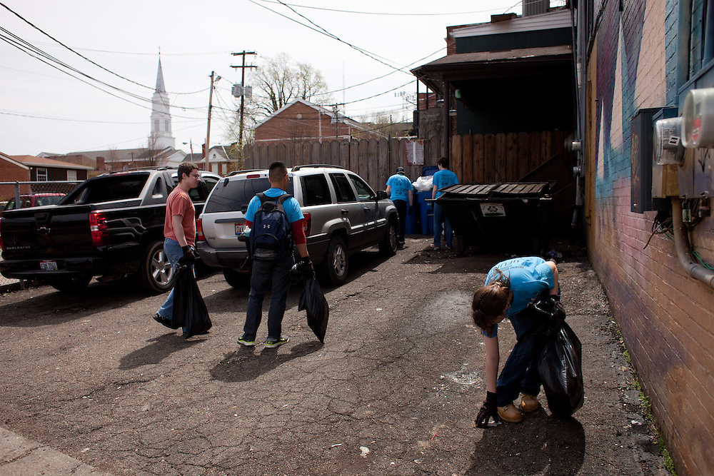 Athens Beautification Day was held in Athens, Ohio on Sunday, April 14, 2013. Photo by Chris Franz