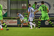 Cheltehham Town's Jack Munns shoots at goal during the Gloucestershire Senior Cup match between Forest Green Rovers and Cheltenham Town at the New Lawn, Forest Green, United Kingdom on 20 September 2016. Photo by Shane Healey.