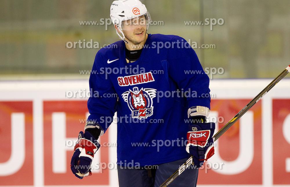 Damjan Dervaric during practice session of Slovenian National ice hockey team 1 day before IIHF 2011 World Championship Slovakia, on April 28, 2011 in Hala B, Orange Arena, Bratislava, Slovakia. (Photo By Vid Ponikvar / Sportida.com)