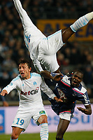 FOOTBALL - FRENCH CHAMPIONSHIP 2010/2011 - L1 - OLYMPIQUE MARSEILLE v GIRONDINS BORDEAUX - 16/01/2011 - PHOTO PHILIPPE LAURENSON / DPPI - GABRIEL HEINZE (OM)