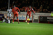Andre Blackman during the EFL Sky Bet League 2 match between Crawley Town and Grimsby Town FC at the Checkatrade.com Stadium, Crawley, England on 26 November 2016. Photo by Jarrod Moore.