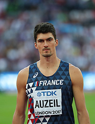 London, August 12 2017 . Bastien Auzeil, France, the men's decathlon javelin on day nine of the IAAF London 2017 world Championships at the London Stadium. © Paul Davey.