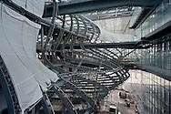 """Roma 22 Dicembre 2015<br /> Presentato lo stato di avanzamento dei lavori del nuovo centro Congressi «La Nuvola» al quartiere EUR, progettato dall'architetto Massimiliano Fuksas.<br /> Rome December 22, 2015<br /> Presented the state of progress of the work of the new congress center """"The Cloud"""", at the EUR district, designed by architect Massimiliano Fuksas."""