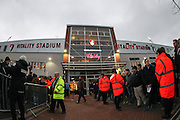 Outside the Vitality Stadium before the Barclays Premier League match between Bournemouth and Manchester United at the Goldsands Stadium, Bournemouth, England on 12 December 2015. Photo by Phil Duncan.