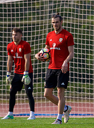 NANNING, CHINA - Wednesday, March 21, 2018: Wales' Gareth Bale during a training session at the Guangxi Sports Centre ahead of the opening 2018 Gree China Cup International Football Championship match against China. (Pic by David Rawcliffe/Propaganda)