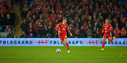 CARDIFF, WALES - Friday, November 16, 2018: Wales' David Brooks during the UEFA Nations League Group Stage League B Group 4 match between Wales and Denmark at the Cardiff City Stadium. (Pic by David Rawcliffe/Propaganda)
