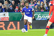 Wes Morgan (5)  during the The FA Cup match between Leicester City and Wigan Athletic at the King Power Stadium, Leicester, England on 4 January 2020.