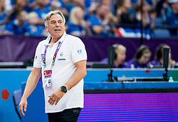 Constandinos Missas, head coach of Greece during basketball match between National Teams of Greece and Iceland at Day 1 of the FIBA EuroBasket 2017 at Hartwall Arena in Helsinki, Finland on August 31, 2017. Photo by Vid Ponikvar / Sportida