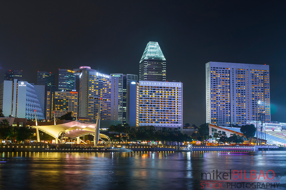 Skyscrapers. Singapore, Asia.