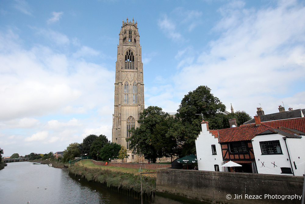 UK ENGLAND BOSTON 7SEP16 - St. Botolph's Church spire, commonly known as 'The Boston Stump' in Boston town centre. The church is one of the largest parish churches in England and has one of tallest Medieval towers in England.<br /> <br /> jre/Photo by Jiri Rezac<br /> <br /> © Jiri Rezac 2016