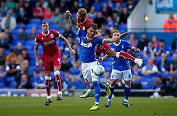 Nathan Baker of Bristol City beats Joe Garner of Ipswich Town to the ball - Mandatory by-line: Robbie Stephenson/JMP - 30/09/2017 - FOOTBALL - Portman Road - Ipswich, England - Ipswich Town v Bristol City - Sky Bet Championship