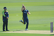 Brad Wheal of Hampshire bowling during the Royal London One Day Cup match between Hampshire County Cricket Club and Essex County Cricket Club at the Ageas Bowl, Southampton, United Kingdom on 23 May 2018. Picture by Dave Vokes.