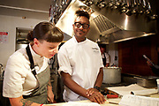New York, NY - August 10, 2017: Chef Gregory Gourdet  of Departures in Portland, Oregon, and Denver, presents a &quot;Sexy Pan Asian&quot; dinner at the James Beard House.<br /> <br /> Credit: Clay Williams for The James Beard Foundation.<br /> <br /> &copy; Clay Williams / http://claywilliamsphoto.com