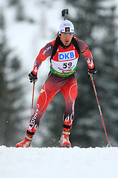 Scott Perras (CAN) at Men 20 km Individual at E.ON Ruhrgas IBU World Cup Biathlon in Hochfilzen (replacement Pokljuka), on December 18, 2008, in Hochfilzen, Austria. (Photo by Vid Ponikvar / Sportida)