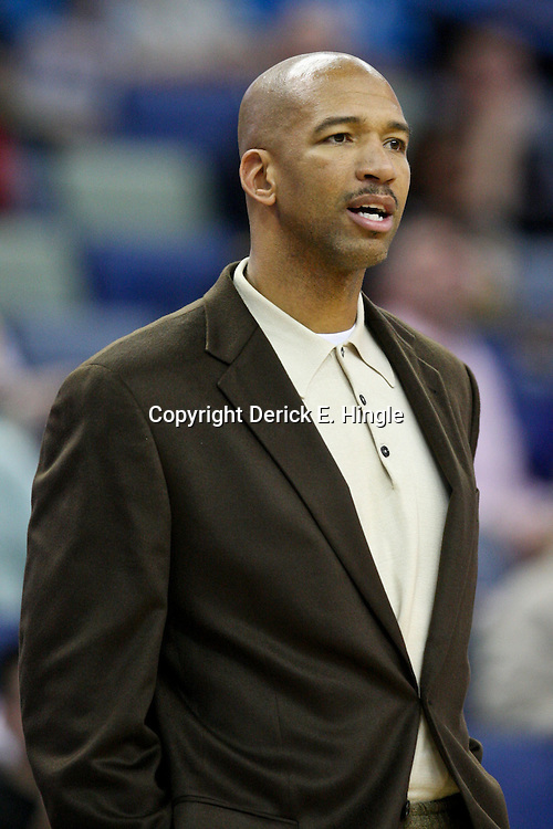 February 2, 2012; New Orleans, LA, USA; New Orleans Hornets head coach Monty Williams against the Phoenix Suns during a game at the New Orleans Arena. The Suns defeated the Hornets 120-103.  Mandatory Credit: Derick E. Hingle-US PRESSWIRE
