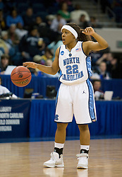 North Carolina guard Cetera DeGraffenreid (22) in action against Georgia.  The #1 seed North Carolina Tar Heels defeated the Georgia Bulldogs 80-66 in the second round of the 2008 NCAA Women's Basketball Championship at the Ted Constant Convocation Center in Norfolk, VA on March 25, 2008.