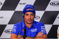 May 18, 2018 - Le Mans, France, France - Andrea Iannone attends a press conference of France MotoGP at Circuit Bugatti Le Mans. (Credit Image: © Gaetano Piazzolla/Pacific Press via ZUMA Wire)