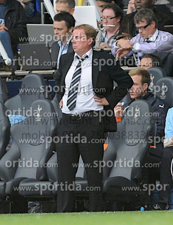 28.08.2010, White Hart Lane, London, ENG, PL, Tottenham Hotspur vs Wigan Athletic, im Bild Harry Redknapp after the goal from Wigan 1-0 second half. EXPA Pictures © 2010, PhotoCredit: EXPA/ IPS/ Daniel Cawthorne +++++ ATTENTION - OUT OF ENGLAND/UK +++++ / SPORTIDA PHOTO AGENCY
