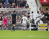 Hearts&rsquo; Callum Paterson heads home the opening goal - Hearts v Dundee, Ladbrokes Scottish Premiership at Tynecastle, Edinburgh. Photo: David Young<br /> <br />  - &copy; David Young - www.davidyoungphoto.co.uk - email: davidyoungphoto@gmail.com