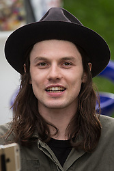 © Licensed to London News Pictures .06/06/2015. Manchester , UK. JAMES BAY backstage at The Parklife 2015 music festival in Heaton Park , Manchester . Photo credit : Joel Goodman/LNP