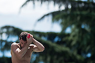 BENEDETTI Michele ITA<br /> Bolzano, Italy <br /> 22nd FINA Diving Grand Prix 2016 Trofeo Unipol<br /> Diving<br /> Men's 3m springboard semifinal <br /> Day 01 15-07-2016<br /> Photo Giorgio Perottino/Deepbluemedia/Insidefoto