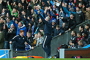 Blackburn Rovers Manager Paul Lambert  celebrates Blackburn Rovers midfielder Ben Marshall  goal during the The FA Cup match between Blackburn Rovers and West Ham United at Ewood Park, Blackburn, England on 21 February 2016. Photo by Simon Davies.