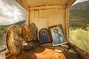 Roadside shrines, Delphi, Greece