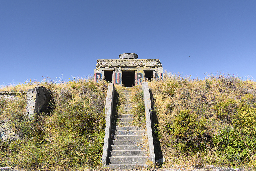 Abandoned military fortification that used to be part of the defence of the Tagus river in Lisbon.