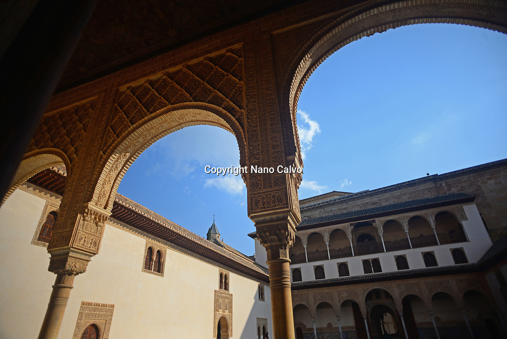 Nasrid Palaces at The Alhambra, palace and fortress complex located in Granada, Andalusia, Spain