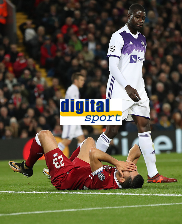 Football - 2017 / 2018 UEFA Champions League - Group E: Liverpool vs. NK Maribor<br /> <br /> Emre Can of Liverpool at Anfield.<br /> <br /> COLORSPORT/LYNNE CAMERON