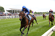 HARRY ANGEL ridden by jockey Adam Kirby and trained by trainer Clive Cox wins the The Group 2 Duke Of York Clipper Logistics Stakes over 6f (£125,000) at  the York Dante Meeting at York Racecourse, York, United Kingdom on 16 May 2018. Picture by Mick Atkins.