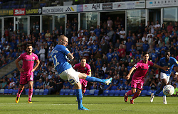 Marcus Maddison of Peterborough United scores from the penalty spot to make it 6-0 - Mandatory by-line: Joe Dent/JMP - 14/09/2019 - FOOTBALL - Weston Homes Stadium - Peterborough, England - Peterborough United v Rochdale - Sky Bet League One