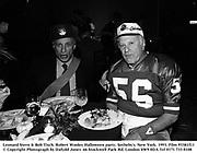 Leonard Stern & Bob Tisch. Robert Wooley Halloween party. Sotheby's. New York. 1993. Film 93381f11<br /> © Copyright Photograph by Dafydd Jones<br /> 66 Stockwell Park Rd. London SW9 0DA<br /> Tel 0171 733 0108