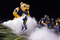 The Inderkum Tigers come on the to the field before the game as the Inderkum Tigers football team host the Del Oro Golden Eagles in the Sac-Joaquin Section Division II second round playoff game, Friday Nov 17, 2017.<br /> photo by Brian Baer
