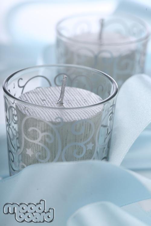 Christmas candles - studio shot
