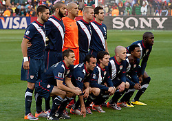 Team of USA during the 2010 FIFA World Cup South Africa Group C match between Slovenia and USA at Ellis Park Stadium on June 18, 2010 in Johannesberg, South Africa. (Photo by Vid Ponikvar / Sportida)