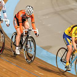 Nederlands Kampioenschap puntenkoers vrouwen in het Omnisportcentrum Apeldoorn Boels-Dolmans renster Nina Kessler