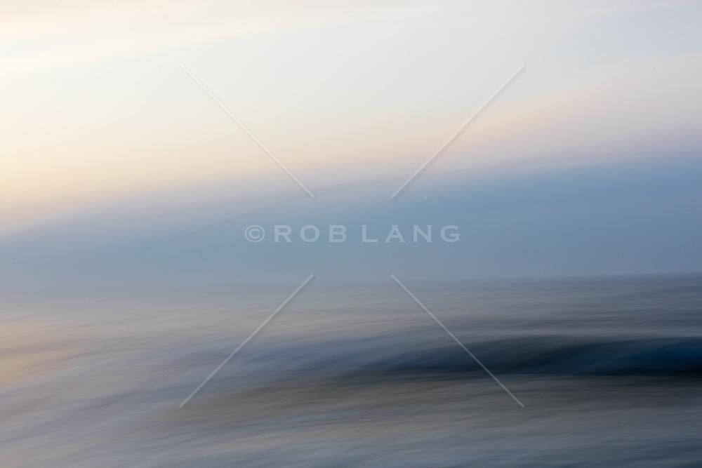 abstract of the ocean in Montauk, NY