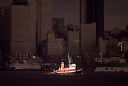 Image of a tugboat at the Seattle waterfront, Seattle, Washington, Pacific Northwest