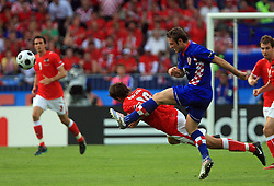 Martin Harnik of Austria and Robert Kovac of Croatia during the UEFA EURO 2008 Group B soccer match between Austria and Croatia at Ernst-Happel Stadium, on June 8,2008, in Vienna, Austria.  (Photo by Vid Ponikvar / Sportal Images)