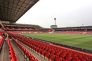 General view inside the stadium before the EFL Cup match between Nottingham Forest and Derby County at the City Ground, Nottingham, England on 27 August 2019.