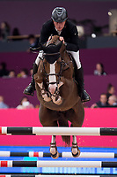 Rider Johnny Pals and his horse Chat Botte du Ruisseau 2 during Madrid Horse Week at Ifema in Madrid, Spain. November 26, 2017. (ALTERPHOTOS/Borja B.Hojas)