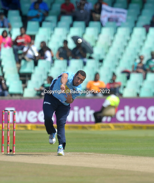 Andre Adams of Auckland Aces during the 2012 Champions League match Twenty20 ,Auckland Aces and Titans at the Kingsmead Stadium in Durban , 17 October 2012<br />   <br /> <br /> &copy; Sabelo Mngoma/BackpagePix