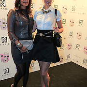 NLD/Amsterdam/20130205 - Modeshow Nikki Plessen 2013, Marvy rieder en vriendin Sharissa