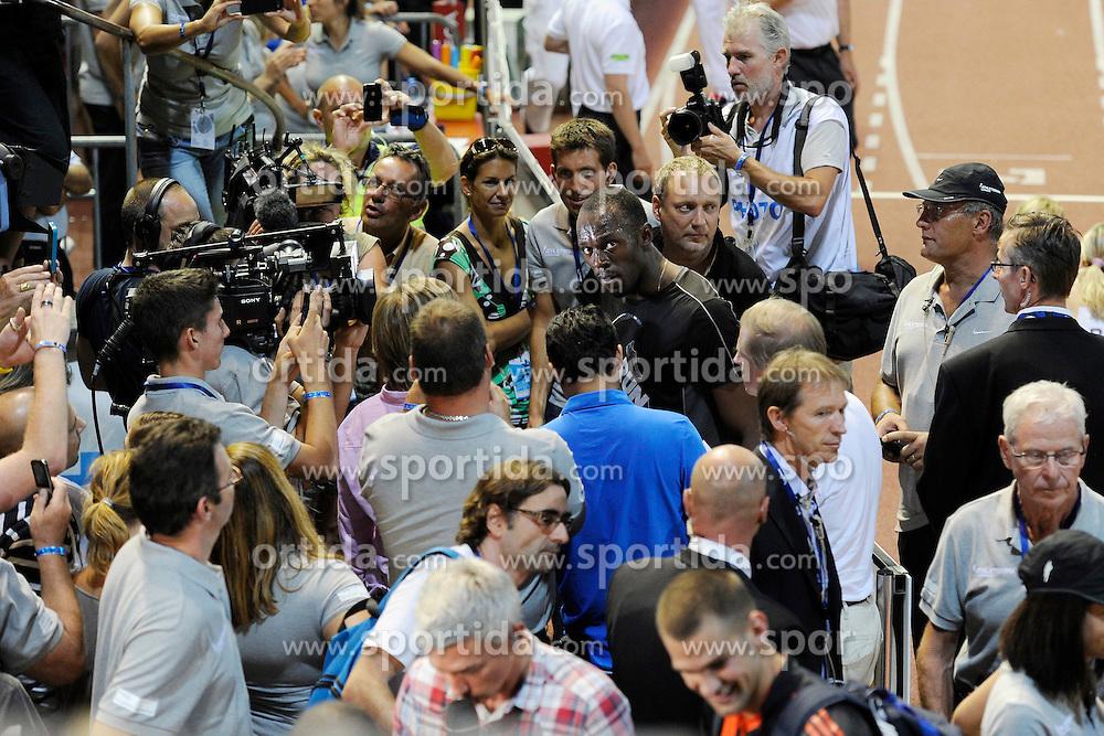 23.08.2012, Stade Olympique de la Pontais, Lausanne, SUI, Athletissima 2012, im Bild Usain Bolt (JAM), 200m Maenner. EXPA Pictures © 2012, PhotoCredit: EXPA/ Freshfocus/ Urs Lindt..***** ATTENTION - for AUT, SLO, CRO, SRB, BIH only *****