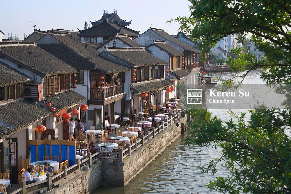 Traditional architecture along the Grand Canal, Zhujiajiao, near Shanghai, China
