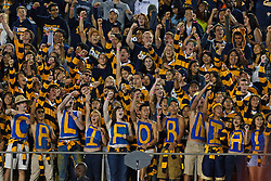 BERKELEY, CA - OCTOBER 06: California Golden Bears students cheer from the stands before the game against the UCLA Bruins at California Memorial Stadium on October 6, 2012 in Berkeley, California. The California Golden Bears defeated the UCLA Bruins 43-17. (Photo by Jason O. Watson/Getty Images) *** Local Caption ***