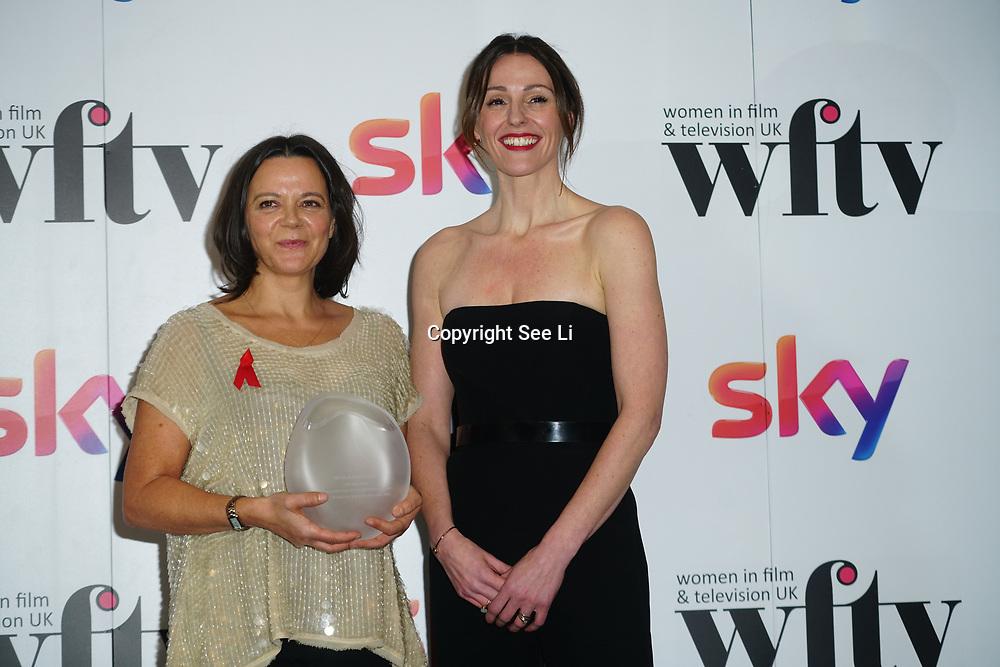 London Hilton, Park lane, England, UK. 1st December 2017. Elhum Shakerifar, Suranne Jones  attends the Sky Women in Film and TV Awards.