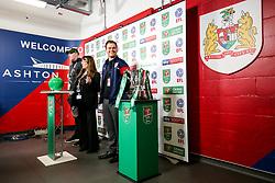 Joel Osborne stands in for Louis Carey in a semi final draw run through - Rogan/JMP - 20/12/2017 - Ashton Gate Stadium - Bristol, England - Bristol City v Manchester United - Carabao Cup Quarter Final.