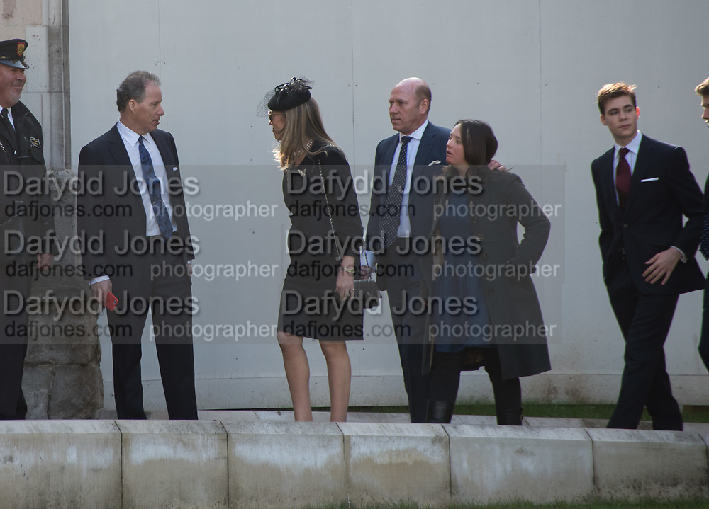 THE EARL OF SNOWDON; ( DAVID LINLEY ) CAROLINE ARMSTRONG-JONES; PEREGRINE ARMSTRONG-JONES, INDIA ARMSTRONG-JONES, LLEWELLEN ARMSTRONG-JONES, Service of thanksgiving for  Lord Snowdon, St. Margaret's Westminster. London. 7 April 2017
